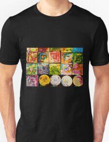 Colorful Glass Coaster Unisex T-Shirt