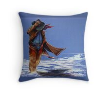 North Wind Blowin' Throw Pillow