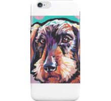 wire haired Dachshund Dog Bright colorful pop dog art iPhone Case/Skin