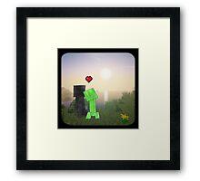 Creeper x Enderman ♡ Framed Print