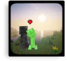 Creeper x Enderman ♡ Canvas Print