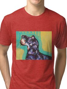 Dachshund Dog Bright colorful pop dog art Tri-blend T-Shirt