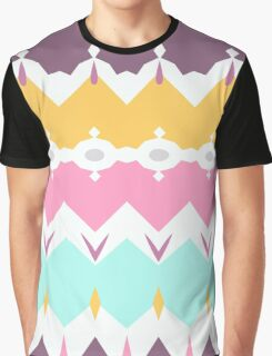 Seamless geometric pattern textiles design pastel Graphic T-Shirt