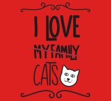 I love my cats One Piece - Short Sleeve
