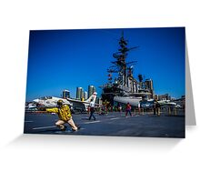 USS Memphis, San Diego Greeting Card