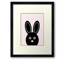 Bunny Boo - Pink Framed Print