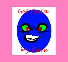 Get Outa My Face- Angry Pillow Design by Noel Elliot