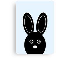 Bunny Boo - Blue Canvas Print