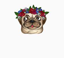 Flowery Pug Unisex T-Shirt