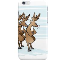 The reindeer confront Santa Claus iPhone Case/Skin