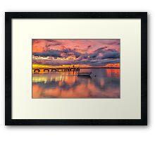 Military Jetty Sunrise - Caloundra Qld Australia Framed Print