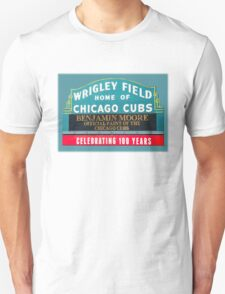 Wrigley Field Marquee gets retro Paint Job T-Shirt