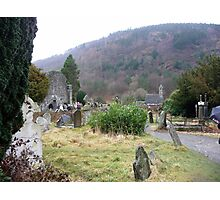 Rainy day at Glendalough Photographic Print
