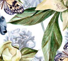 Blue iris and lilies  Sticker
