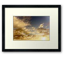 Caribbean Clouds at Sunset Framed Print