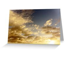 Caribbean Clouds at Sunset Greeting Card