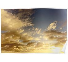 Caribbean Clouds at Sunset Poster