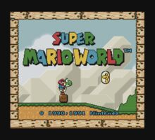 Super Mario World title screen Kids Tee