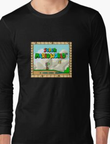 Super Mario World title screen Long Sleeve T-Shirt
