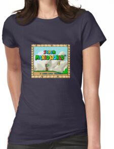 Super Mario World title screen Womens Fitted T-Shirt