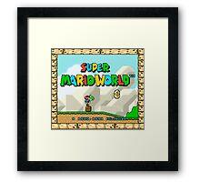 Super Mario World title screen Framed Print