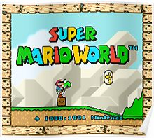 Super Mario World title screen Poster