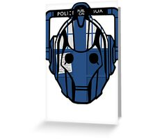 cyberman tardis Greeting Card