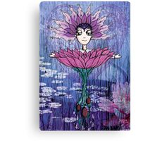 Girl Quirky Lotus Canvas Print