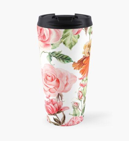 Pink and red bouquet  Travel Mug