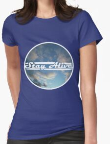 Stay Alive - Clouds Womens Fitted T-Shirt