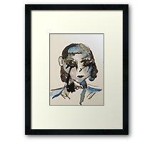 1920s Watercolour Flapper Girl Framed Print