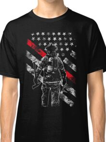 Firefighter Exclusive Thin Red Line, American Flag T-Shirt Classic T-Shirt