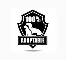 100% adoptable dog and cat pet adoption symbol Unisex T-Shirt