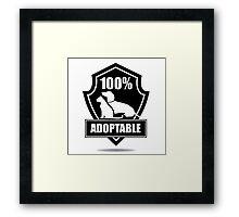 100% adoptable dog and cat pet adoption symbol Framed Print