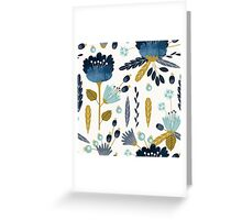 Blue and yellow floral watercolor Greeting Card