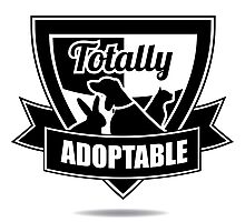 Totally adoptable pet rescue design Photographic Print