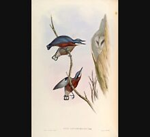 Birds of Asia John Gould 1883 V1 V7 120 Sitta Cinnamoventris Unisex T-Shirt