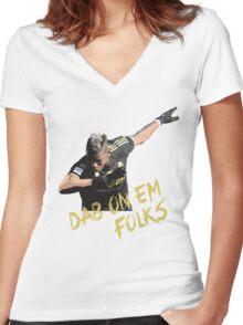 Pogba - Dab On Em Folks Women's Fitted V-Neck T-Shirt