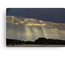 When Light Split The Sky Canvas Print