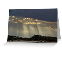 When Light Split The Sky Greeting Card