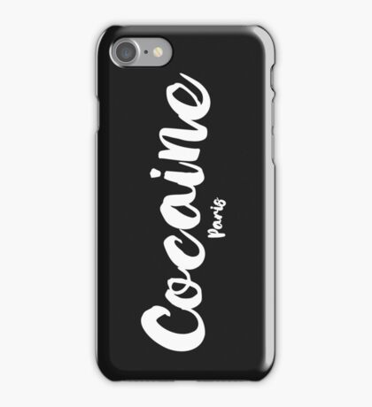 Cocaine Paris - White   iPhone Case/Skin