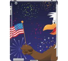 Bald Eagle with American flag and fireworks iPad Case/Skin