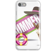 Summer design wth ice cream cone iPhone Case/Skin