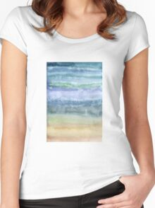 Sandy ocean Women's Fitted Scoop T-Shirt