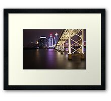 Night Time Reflections of Macau # 2 Framed Print