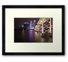 Night Time Reflections of Macau # 2 Framed Print