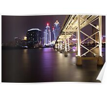 Night Time Reflections of Macau # 2 Poster