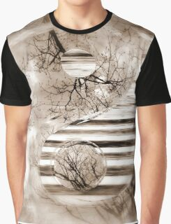 Yin Yang Softness and Transparency in Sepia Graphic T-Shirt