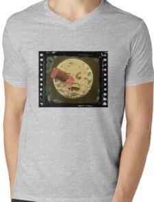 Vintage Trip to the Moon colour Mens V-Neck T-Shirt