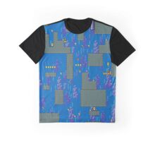 Super Mario World water stage Graphic T-Shirt